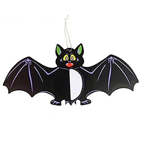 Xusun 1pc Halloween Spider Bats Hanging Decoration Decorative props Papery (A, Black) - Swirl Remover Gallon