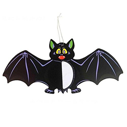 Xusun 1pc Halloween Spider Bats Hanging Decoration Decorative props Papery (A, (Hippie Sticks Tricks)