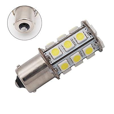 GRV Ba15s 1156 1141 High Bright RV Car LED Bulb 24-5050SMD DC 12V Cool White Pack of 10: Automotive