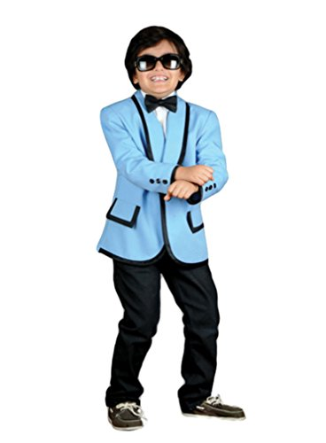 Gangnam Style Costumes (Child 1950s Tuxedo Crooner or Gangnam Style Jacket (Medium, Baby Blue))
