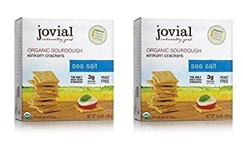 Jovial Organic Sourdough Einkorn Crackers Sea Salt 4.5 OZ (Pack of 2)