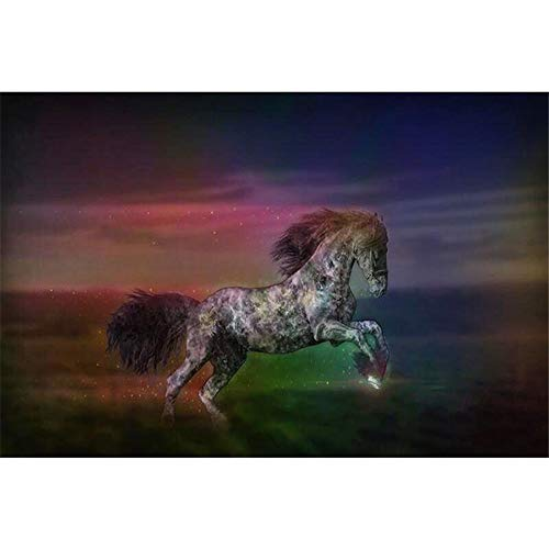 Animal Horse Race Horse?5D Diamond Painting Embroidery Diy Paint-By-Diamond Kit Home Wall Decor 9.8X11.8 Inch -