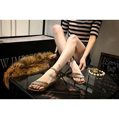Fibbia Donna CN35 US5 Vacchetta Tacco Abito 5 EU36 amp; amp; Office Da Estate Carriera Slingback Sandali UK3 Autunno 5 Piatto RTRY Sera Party aTxqpBdp