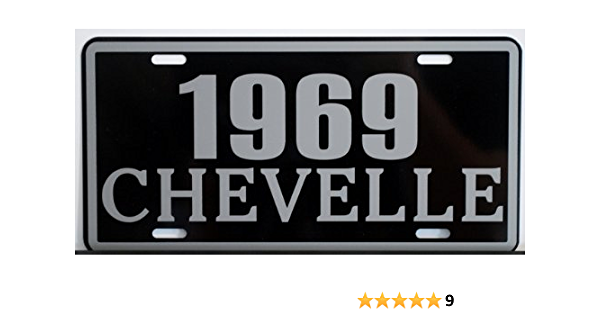 1969 69 NOVA Metal License Plate 6x12 Tag SS Super Sport Chevy Chevrolet