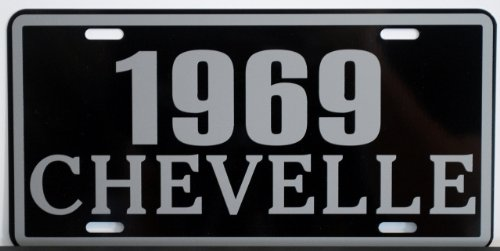 Motown Automotive Design 1969 69 Chevelle Metal License Plate SS Super Sport 327 350 396 454 FITS Chevy TAG 6 X 12 HOT Rod Muscle CAR Classic Museum Collection Novelty Gift Sign