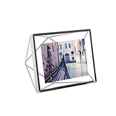 Umbra Prisma Picture Frame, 4 by 6-Inch, Chrome