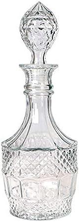 Skelang Decantador de whisky, decantador de licor de vidrio, decantador tallado para whisky, brandy, vodka, ginebra, 800 ml