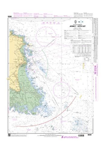 Premier Cotes - SHOM Chart 6939: Jersey - Cote Est, 23 x 33 inches, Premiere Bond Paper