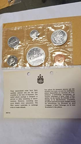 1965 CANADA 6 COIN PROOF LIKE SILVER SET-CRISPY GOV'T SEALED WITH 1 DOLLAR AND ENVELOPE & COA FROM ROYAL CANADIAN MINT-VERN'S CARD & COIN PR