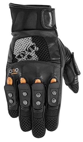 Black Brand Mirror Buster Men's On-Road Motorcycle Gloves - Black / Large ()
