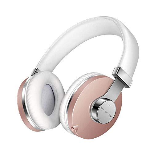 WAYPGC Bluetooth Headphones Wireless Built-in Microphone HiFi Stereo, Protein Soft Ermuffs, Rotary Sensor Button, Intelligent Noise -