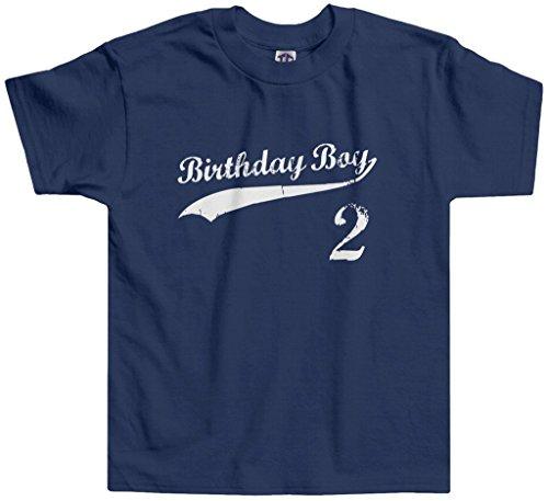 Threadrock Little Boys' Birthday Boy 2 Year Old Toddler T-Shirt 2T Navy ()