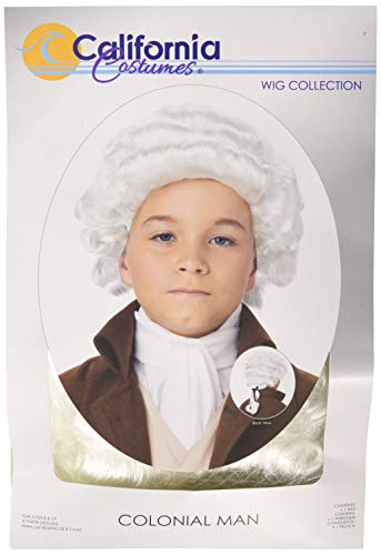 California Costumes Colonial Man Wig Child Costume, Acc