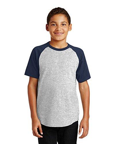 Sport Tek?YT201 Youth Short Sleeve Colorblock Raglan Jersey