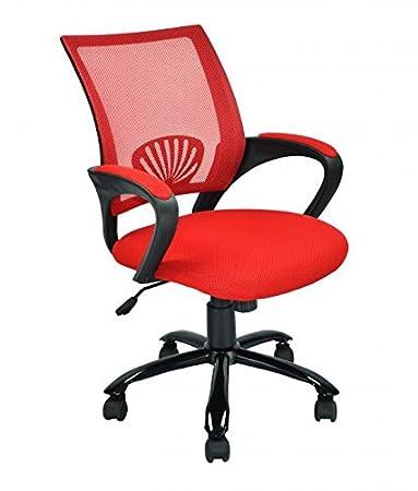 Amazoncom Red Ergonomic Mesh Swivel Chair Computer Home Office