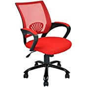 Red Ergonomic Mesh Computer Office Desk Task Chair w/Metal Base
