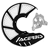 Acerbis X-Brake Vented Front Disc Cover with Mounting Kit Black/White – Fits: Husaberg FE 250 2013–2014