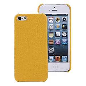 Small Crocodile Pattern Leather Dragon Jun Series Case for iPhone 5S , Yellow