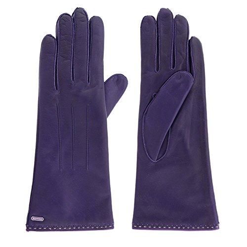 Coach Womens Purple Leather Cashmere