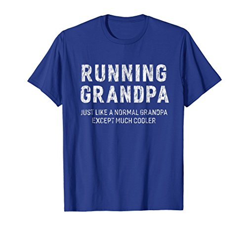Mens Running Grandpa Gifts For Grandpa Runner Men T-shirt Large Royal Blue