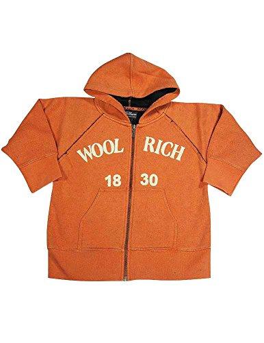 Woolrich - Little Boys Long Sleeve Zip Up Hoodie Sweatshirt, Orange 11706-4/5