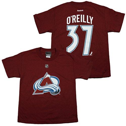 Reebok Colorado Avalanche Ryan O'Reilly #37 NHL Youth Boy's Maroon Player Tee