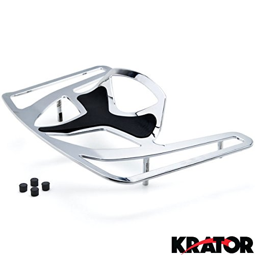 Krator Luggage Rack Chrome Cargo Travel Rack For Honda Goldwing GL1800 Models 2001-2016 Luggage Rack Chrome Cargo Travel Trunk Rack Mount