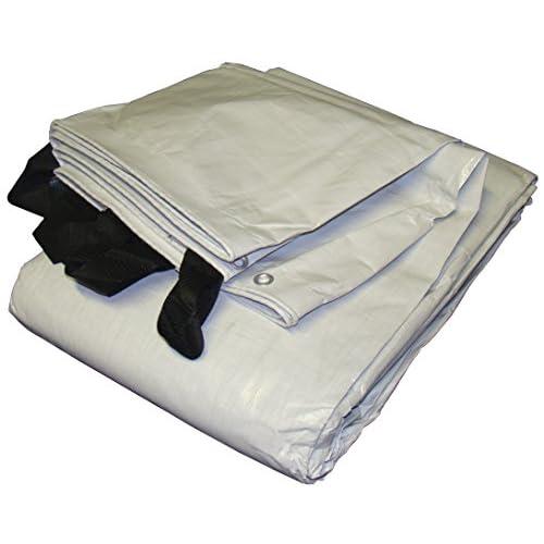 12' x 30' White & Black Reversible Extra Heavy Duty Tarp supplier