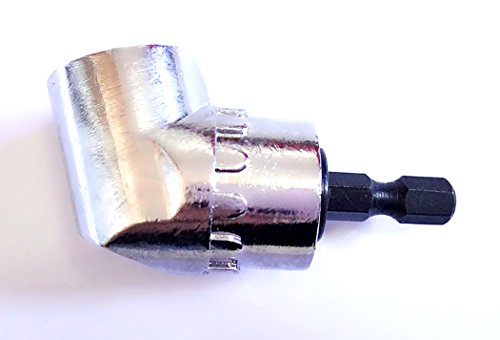 Right Angled Drill Adapter (Inton 105 Degree Right Angle Drilling and Driving Power Drill Attachment with 1/4-Inch Hex Quick)