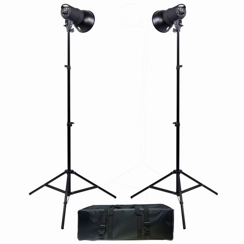 Promaster SM180 180Ws Manual Control 2-Light Studio Kit with Bulbs , Case (6798) by ProMaster