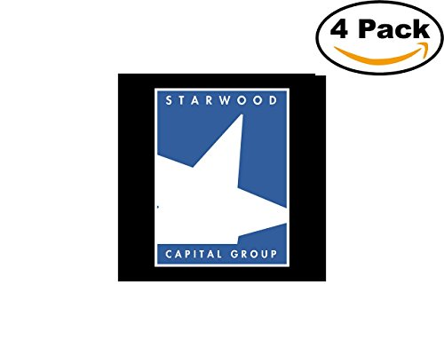 Starwood Office (Starwood Capital Group 4 Stickers 4X4 inches Car Bumper Window Sticker Decal)