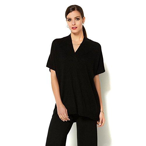 Iman Platinum Touch Cashmere Dolman Sweater 575-557, Black, M/L