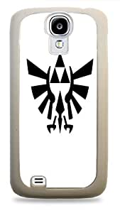 Popular Black Triforce Game Relic Print White Silicone Case for Samsung Galaxy S4