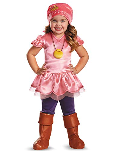 Girl's Disney Junior Jake and The Neverland Pirates Izzy Deluxe Costume, 3T-4T (Jake And Neverland Pirates Outfit)