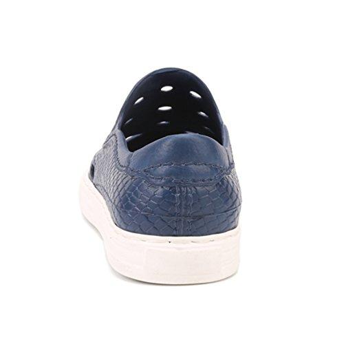 YiLianDa Zuecos Respirable Zapatillas para Hombres Sandalias de Playa Piscina Jardín Zapatos Verano Azul