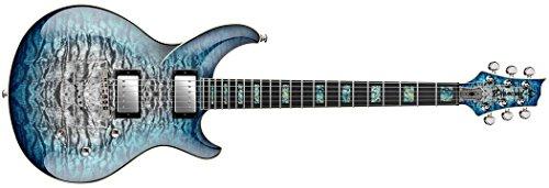 (Diamond MONEX15-IB Monarch Quilt Maple Top Electric Guitar Ice Blue)