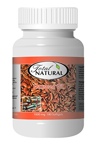 Flaxseed Oil 1000mg 180s - [12 bottles] Heart Health by Total Natural
