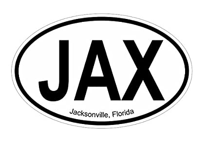 Jacksonville fl oval vinyl decal sticker