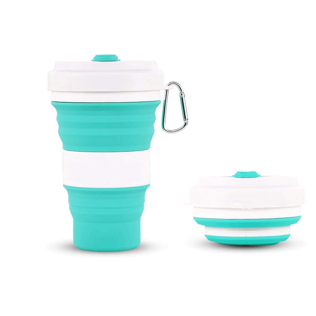 Exquisite Tea cups Saucers set Set Coffee Cup Folding Water Cup Water Bag Green And Blue Nano Silica Gel Large Capacity Environmentally Friendly Edible Light Sports Soft Water Bottle Folding Can Be Fi by Kinue