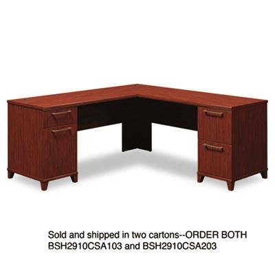 Bush - 72''W X 72''D L-Desk (B/D F/F) Box 2 Of 2 Enterprise: Harvest Cherry ''Product Category: Office Furniture/Desks''