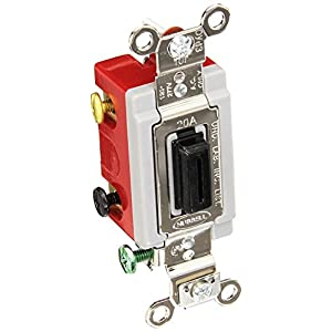 Hubbell HBL1557L Momentary Toggle, Single Pole Double Throw, Lock, 20 amp, 120/277V