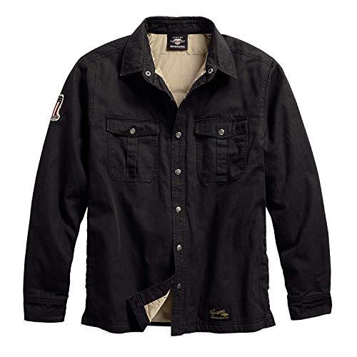 (Harley-Davidson Official Men's #1 Genuine Classics Shirt Jacket, Black)