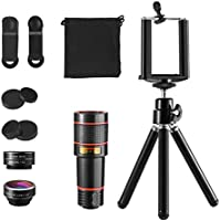 KeeKit 4 in 1 Cell Phone Camera Lens Kit, 12X Telephoto...