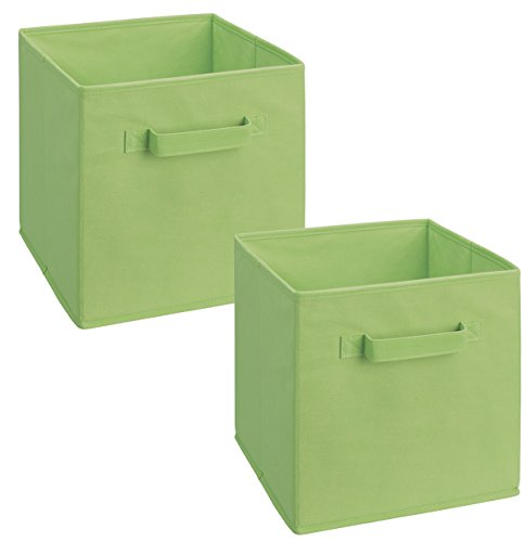 ClosetMaid 18654 Cubeicals Fabric Drawer, Green, 2-Pack
