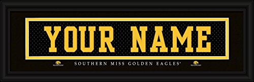 Prints Charming Southern Mississippi Golden Eagles College Sports Personalized Nameplate Print Framed, 8 x 24