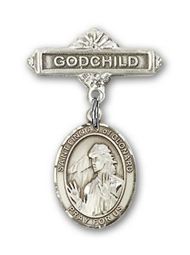 Icecarats Créatrice De Bijoux En Argent Sterling St. Finnian De Charme Clonard Broches Badge Filleul 1 X 5/8
