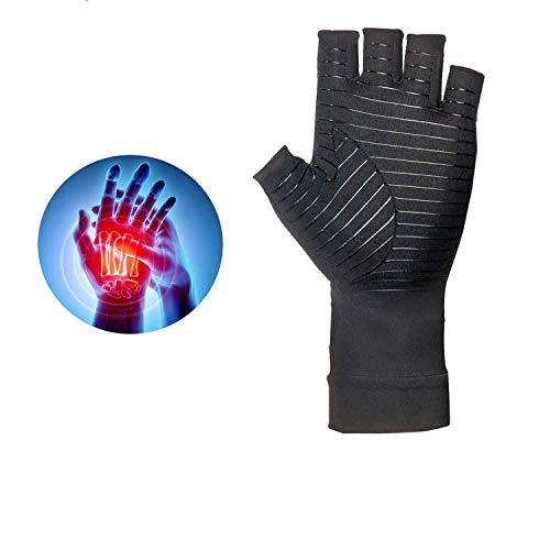 Orthopedic Arthritis Compression Gloves All Day Relief (2 Black) by Medex Lab Inc (Image #1)