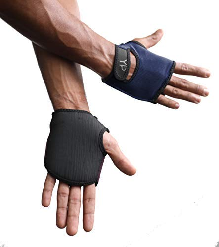 YogaPaws SkinThin Non-Padded Yoga Gloves for Women and Men, Non Slip Grip, for Hot Yoga, Vinyasa, Pilates, Barre, SUP, Travel, and Sweaty Hands, Midnight Blue, Size 2