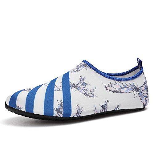 Schwimmschuhe Weiß Aquaschuhe Strandschuhe Badeschuhe Herren Damen für Rutschfeste Barfuß Leicht Atmungsaktiv Schuhe Sixspace w1tUqg7Ow