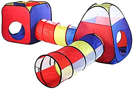 HEEGNPD 4pcs Juguetes de Interior al Aire Libre para niños Carpas portátiles túnel Parque Infantil Piscina de Bolas bebé Juego casa Ola océano Bola Juguete